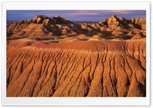 Morning Light On Eroded Formations Badlands National Park HD Wide Wallpaper for Widescreen