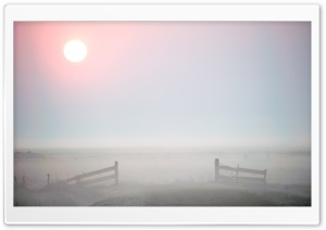 Morning Mist, Terschelling HD Wide Wallpaper for Widescreen