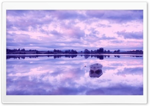 Morning Reflection   Loch Rusky, Scotland HD Wide Wallpaper for Widescreen