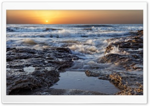 Morning Sea Waves HD Wide Wallpaper for Widescreen