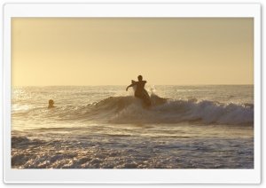 Morning Surfer HD Wide Wallpaper for Widescreen
