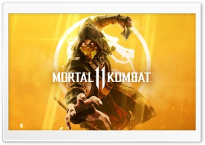 Mortal Kombat 11 cover art Ultra HD Wallpaper for 4K UHD Widescreen desktop, tablet & smartphone
