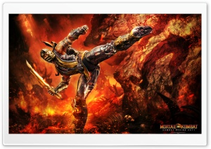 Mortal Kombat 9 Scorpion HD Wide Wallpaper for 4K UHD Widescreen desktop & smartphone