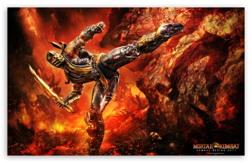 Mortal Kombat 9 Scorpion HD wallpaper for Wide 16:10 5:3 Widescreen WHXGA WQXGA WUXGA WXGA WGA ; HD 16:9 High Definition WQHD QWXGA 1080p 900p 720p QHD nHD ; Standard 3:2 Fullscreen DVGA HVGA HQVGA devices ( Apple PowerBook G4 iPhone 4 3G 3GS iPod Touch ) ; Mobile 5:3 3:2 16:9 - WGA DVGA HVGA HQVGA devices ( Apple PowerBook G4 iPhone 4 3G 3GS iPod Touch ) WQHD QWXGA 1080p 900p 720p QHD nHD ;