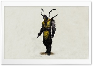 Mortal Kombat Scorpion Drawing HD Wide Wallpaper for Widescreen
