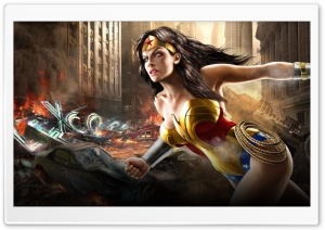 Mortal Kombat Vs Dc Universe Comics - Wonder Woman HD Wide Wallpaper for Widescreen