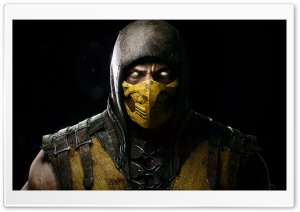 Mortal Kombat X - Scorpio HD Wide Wallpaper for 4K UHD Widescreen desktop & smartphone