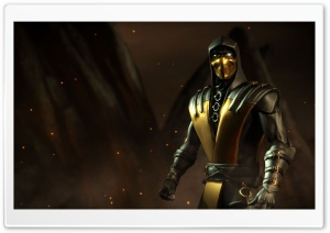 Mortal Kombat X game Scorpion HD Wide Wallpaper for 4K UHD Widescreen desktop & smartphone