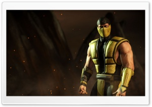 Mortal Kombat X Scorpion HD Wide Wallpaper for 4K UHD Widescreen desktop & smartphone