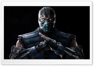 Mortal Kombat X Sub Zero 4K HD Wide Wallpaper for Widescreen