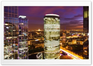 Moscow At Night HD Wide Wallpaper for Widescreen