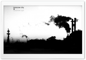Moscow In Black And White HD Wide Wallpaper for Widescreen