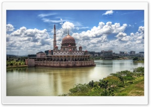 Mosque In Kuala Lumpur HD Wide Wallpaper for 4K UHD Widescreen desktop & smartphone