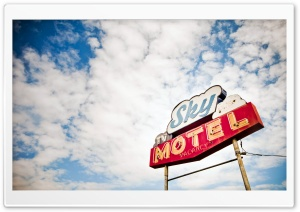 Motel Sign HD Wide Wallpaper for Widescreen