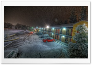 Motel, Winter HD Wide Wallpaper for Widescreen