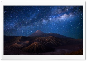 Mount Bromo - Full Sky Landspaces HD Wide Wallpaper for 4K UHD Widescreen desktop & smartphone