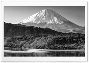 Mount Fuji Black and White HD Wide Wallpaper for 4K UHD Widescreen desktop & smartphone