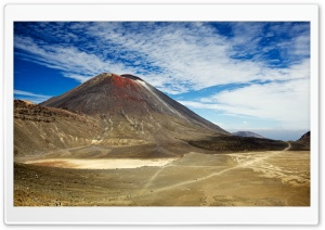 Mount Ngauruhoe Hike, New Zealand HD Wide Wallpaper for Widescreen