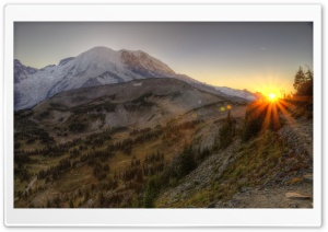 Mount Rainier National Park HDR HD Wide Wallpaper for Widescreen
