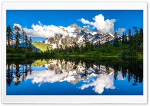 Mount Shuksan Picture Lake HD Wide Wallpaper for Widescreen
