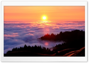 Mount Tamalpais Fog Photography Ultra HD Wallpaper for 4K UHD Widescreen desktop, tablet & smartphone