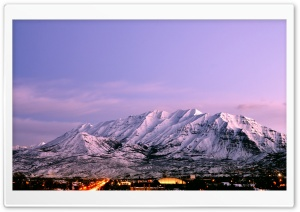 Mount Timpanogos - Dusk HD Wide Wallpaper for Widescreen