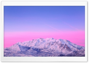 Mount Timpanogos   Pink Sunset HD Wide Wallpaper for Widescreen