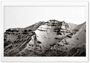 Mount Timpanogos (BW) HD Wide Wallpaper for Widescreen