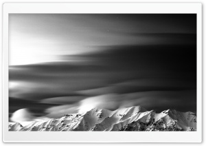 Mount Timpanogos BW HD Wide Wallpaper for Widescreen