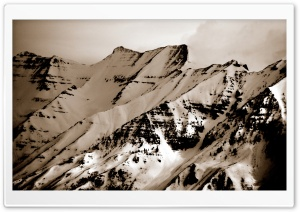 Mount Timpanogos (Vintage Photography) HD Wide Wallpaper for Widescreen