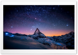 Mountain at Night HD Wide Wallpaper for Widescreen