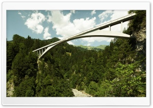 Mountain Bridge HD Wide Wallpaper for Widescreen