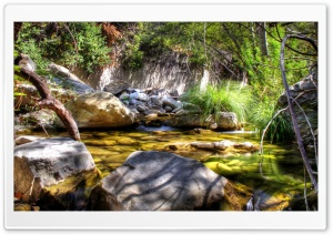 Mountain Creek HDR HD Wide Wallpaper for Widescreen