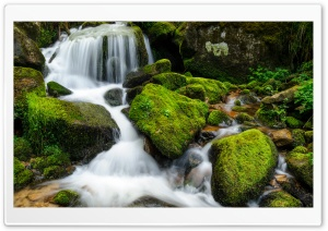 Mountain Creek Rocks Long Exposure HD Wide Wallpaper for 4K UHD Widescreen desktop & smartphone