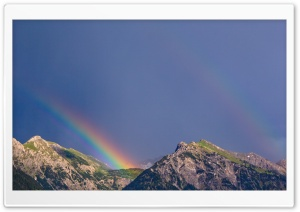 Mountain Double Rainbow HD Wide Wallpaper for 4K UHD Widescreen desktop & smartphone