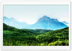 Mountain Forest Tilt-Shift HD Wide Wallpaper for Widescreen
