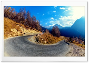 Mountain Hairpin Curve HD Wide Wallpaper for Widescreen