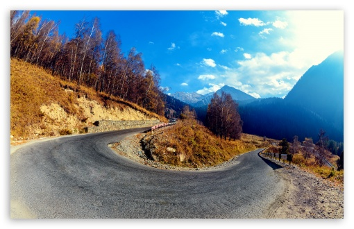 Download Mountain Hairpin Curve HD Wallpaper
