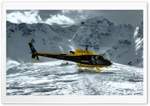 Mountain Helicopter HD Wide Wallpaper for 4K UHD Widescreen desktop & smartphone