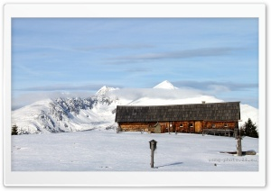 Mountain Hut HD Wide Wallpaper for Widescreen