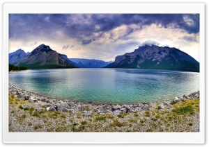 Mountain Lake Fisheye Photography HD Wide Wallpaper for Widescreen