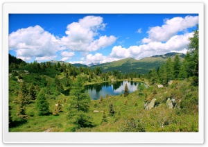 Mountain Lake Landscape HD Wide Wallpaper for Widescreen