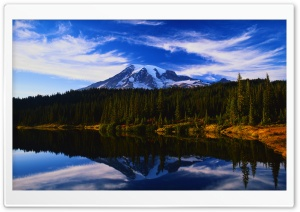 Mountain Lake Reflection HD Wide Wallpaper for Widescreen