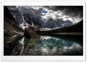 Mountain Lake Scene HD Wide Wallpaper for Widescreen