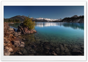 Mountain Lake Scenery HD Wide Wallpaper for Widescreen