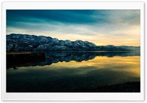 Mountain Lake Sunset Ultra HD Wallpaper for 4K UHD Widescreen desktop, tablet & smartphone