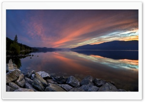 Mountain Lake Sunset HD Wide Wallpaper for Widescreen
