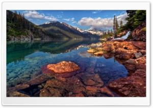 Mountain Lake With Clear Water HD Wide Wallpaper for Widescreen