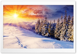 Mountain Landscape, Winter HD Wide Wallpaper for Widescreen