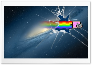 Mountain Lion Nyan Cat HD Wide Wallpaper for Widescreen